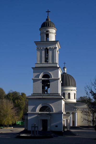 Picture of Nativity cathedral (Moldova): Frontal view of the Nativity Cathedral and belfry