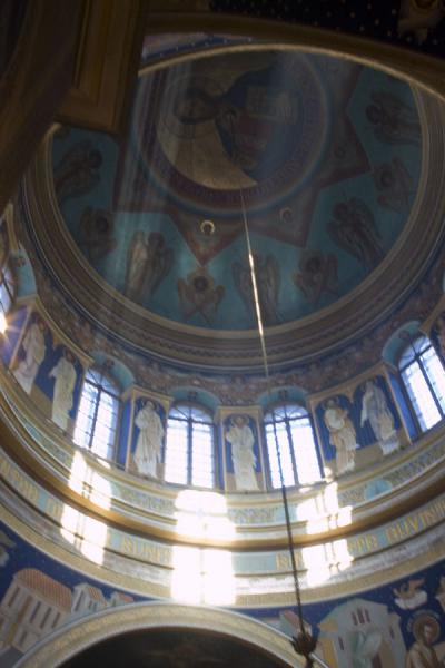 Light filtering through the windows of the dome of the Nativity Cathedral | Nativity cathedral | Moldova