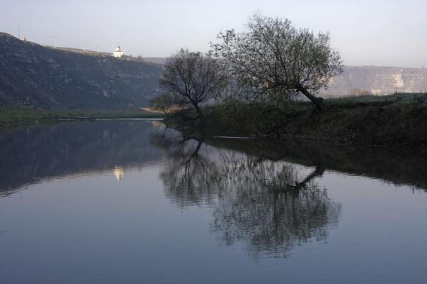Trees reflected in the Raut river | Orheiul Vechi | Moldova