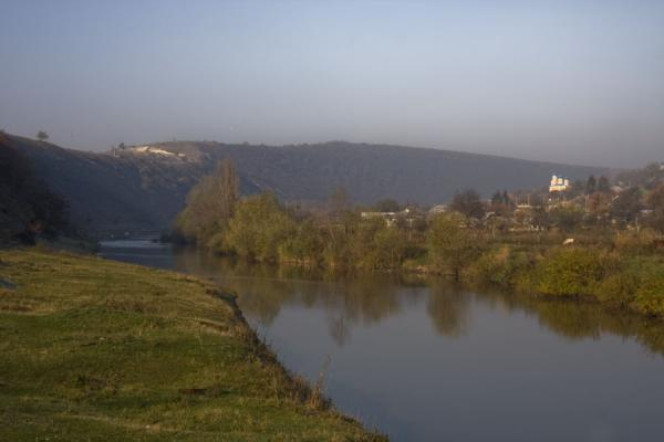 Picture of Raut river and Trebujeni villageButuceni - Moldova