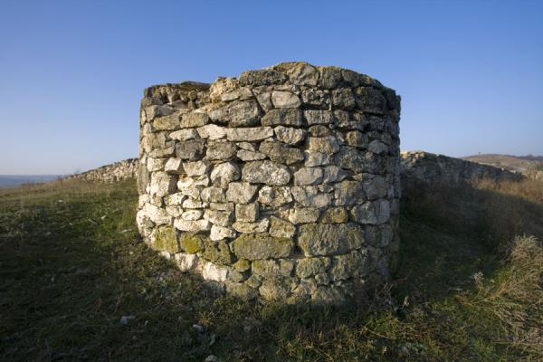 Picture of Circular tower and walls are the ruins of the stone citadelButuceni - Moldova