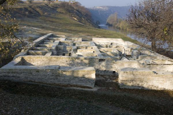 Picture of Orheiul Vechi (Moldova): Ruins of the Tatar bath near the Raut river