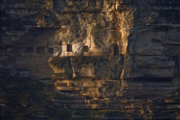 Early morning light on the cliffs of the Pestera Hermitage | Pestera Hermitage | Moldova