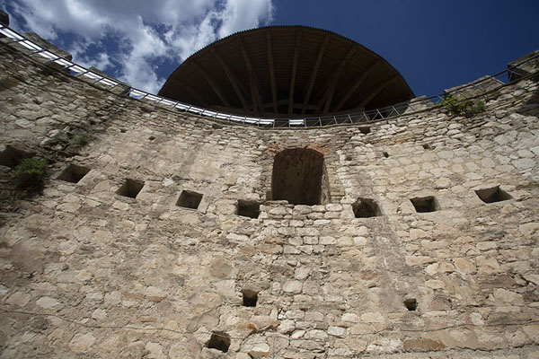 Foto van Soroca Fortress hidden behind trees on the banks of the Dniestr river - Moldavië - Europa
