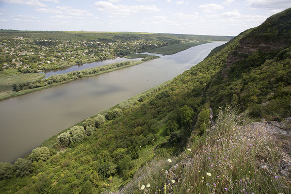 View over the Dniester river with Transnistria on the other side | Tipova Monastery | Moldova