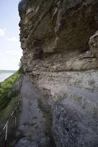 Rockface with monastic cells at Tipova Monastery | Tipova Monastery | Moldova