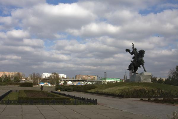 Picture of Statue of Suvorov, founder of Tiraspol, on Constitution Square - Moldova - Europe
