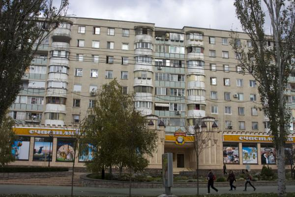 Picture of Tiraspol (Moldova): Greyish apartment block on 25 October street, the main street of Tiraspol