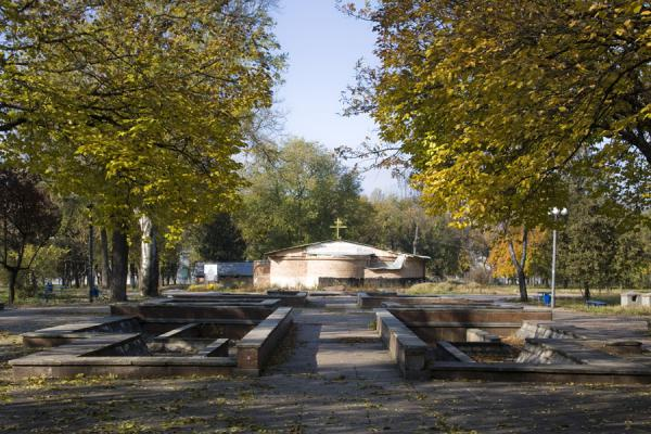 Picture of Kirov Park in autumn colours - Moldova - Europe