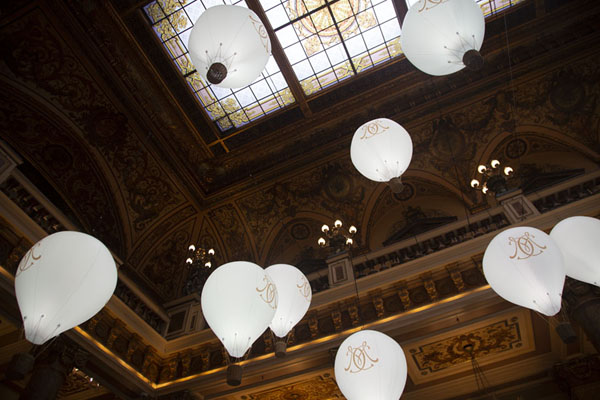 Looking up at the ceiling of the Casino of Monaco | Monaco City | 摩纳哥