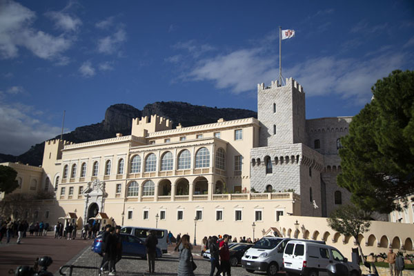 The palace of Monaco basking in the winter sun | Monaco ville | Monaco