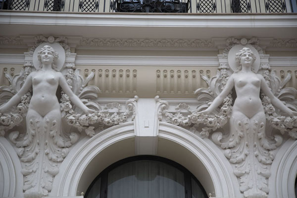 Close-up of decorated building near the Casino of Monaco - 摩纳哥