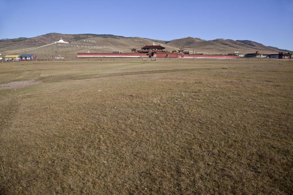Overview of Amarbayasgalant Khiid complex with surrounding hills | Amarbayasgalant Khiid | Mongolia