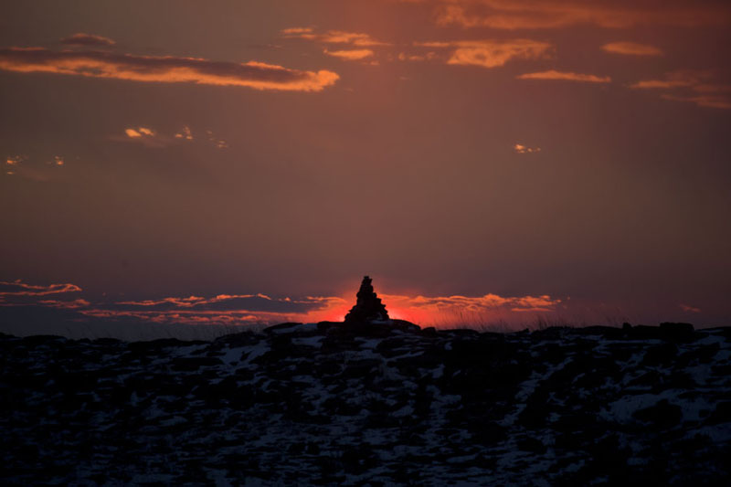 Ovoo at sunset | Baga Gazryn Chuluu | Mongolia