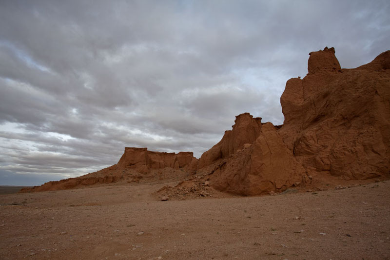 Picture of The cliffs of Bayanzag at the end of the dayBayanzag - Mongolia