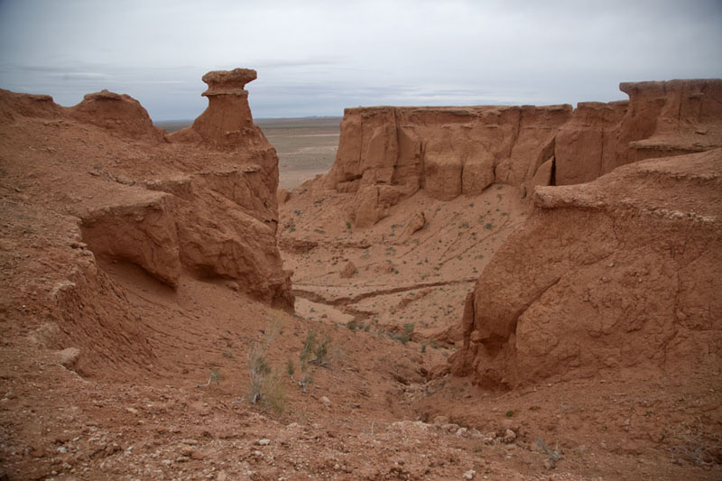 Picture of Mongolia (Canyon of Bayanzag under a cloudy sky)