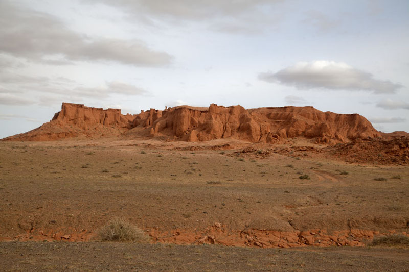 Picture of Looking up a the main cliffs of BayanzagBayanzag - Mongolia