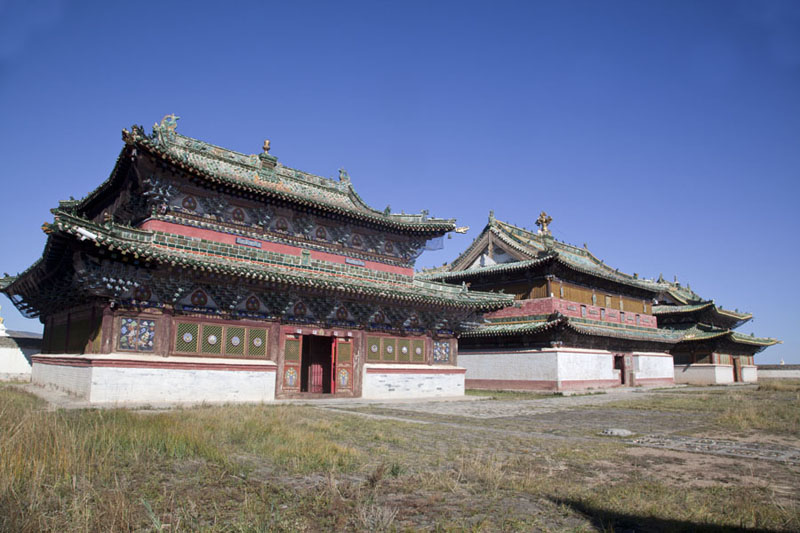 View of the three main temples of Erdene Zuu: Baruun Zuu, Zuu of Buddha, and Zuun Zuu | Erdene Zuu Khiid | Mongolia