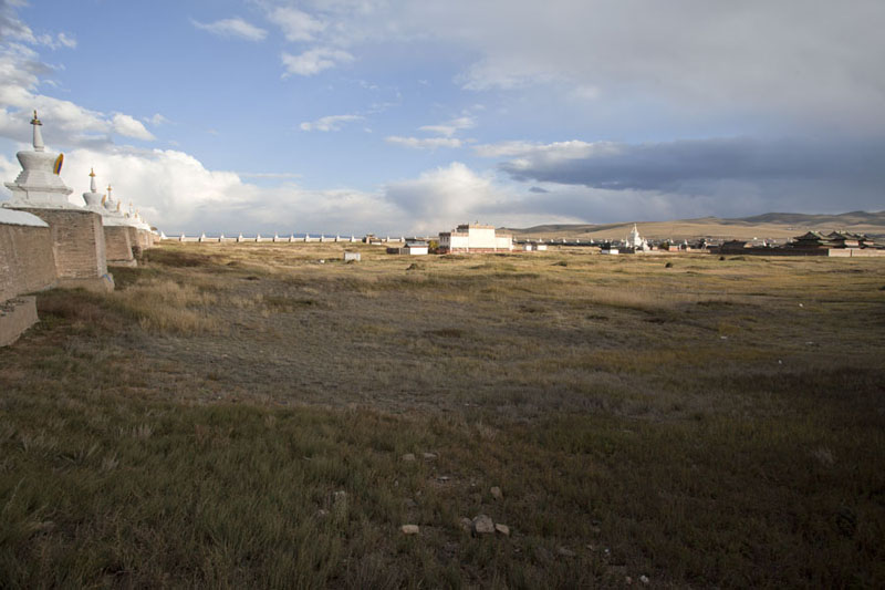 Overview over the monastery complex area within the walls | Erdene Zuu Khiid | Mongolia