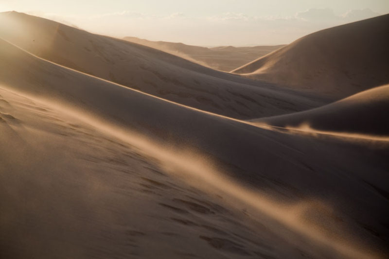 Sand blowing over the dunes of Khongoryn Els | Khongoryn Els | Mongolia