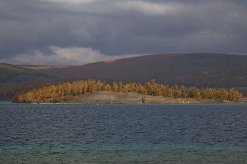 Picture of Islet in the southern part of Khövsgöl NuurKhövsgöl Nuur - Mongolia