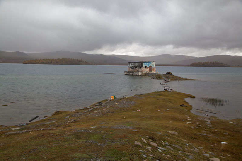 Picture of Building on an islet in the southern part of Khövsgöl NuurKhövsgöl Nuur - Mongolia