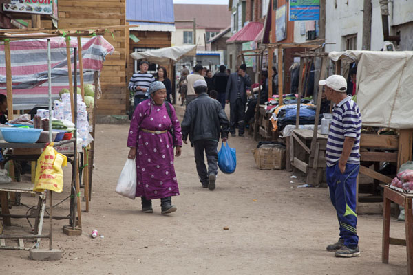 One of the alleys of the market of Mörön | Mörön | Mongolia
