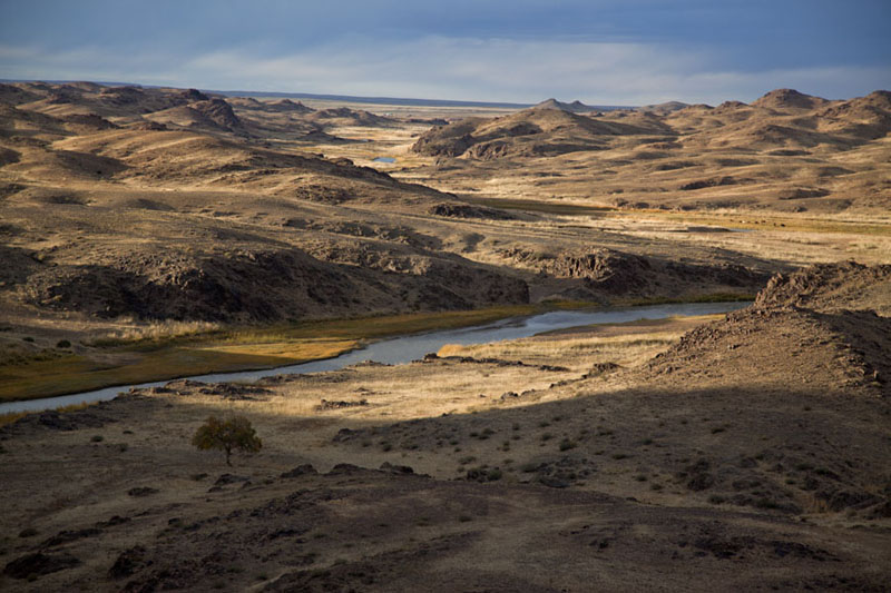 View of the ruins and Ongi river | Ongiin Khiid | Mongolia
