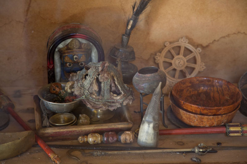 Picture of Ongiin Khiid (Mongolia): Religious items in the small ger museum of Ongi monastery