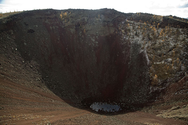 Picture of Looking into the crater of Khorgo Uul, the extinct volcano on the east of Terkhiin Tsagaan NuurGreat White Lake - Mongolia