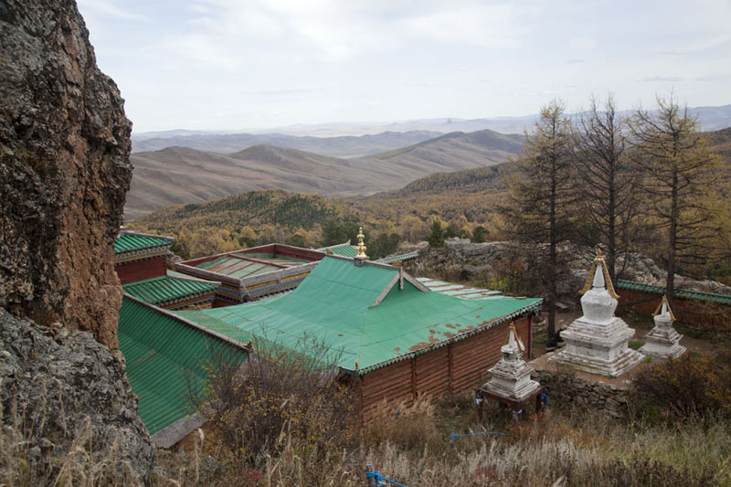 Picture of Tövkhön Khiid (Mongolia): View over the main buildings of Tövkhön monastery