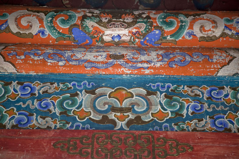 Picture of Tövkhön Khiid (Mongolia): Detail of a temple at Tövkhön monastery