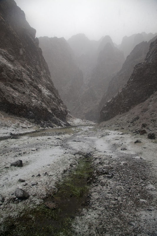 Wider section of Yolyn Am covered in snow | Yolyn Am | Mongolia