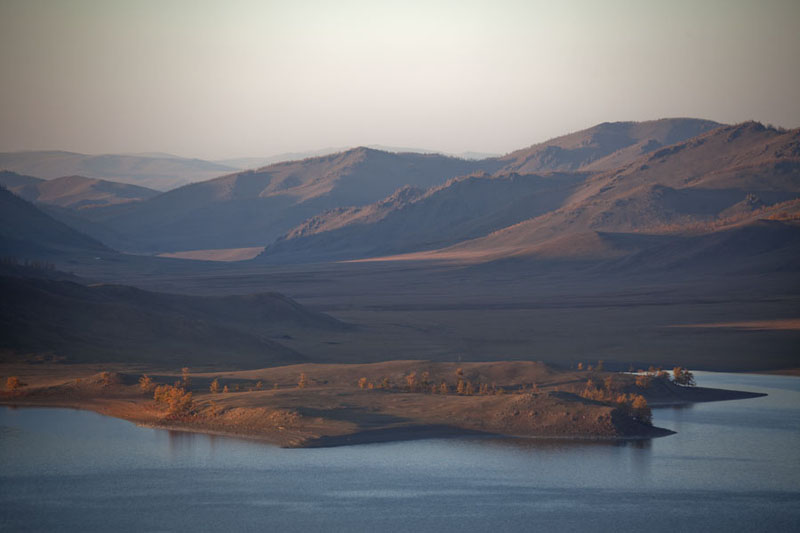 Picture of View from the top of a hill: the other side of Zuum Nuur - Mongolia - Asia