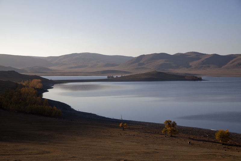 Picture of Zuum Nuur (Mongolia): Zuum Nuur at the end of the day