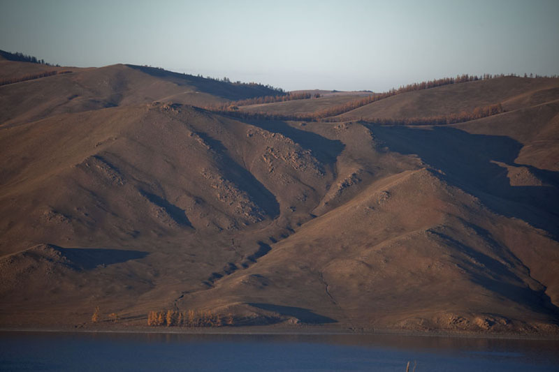 Picture of View of the mountains around Zuum Nuur just before sunset - Mongolia - Asia