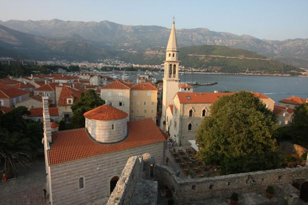 Picture of Budva Old Town (Montenegro): Budva seen from the top of the fortress