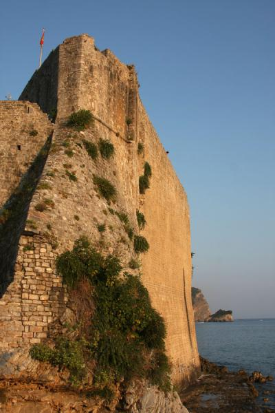 Picture of Budva Old Town (Montenegro): City walls running right over the steep cliffs of Budva