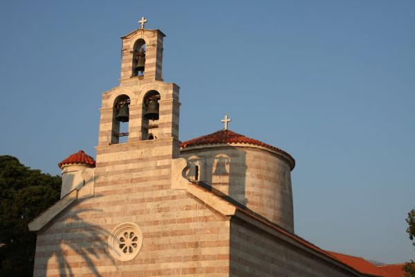 Picture of Budva Old Town (Montenegro): Church of the Holy Trinity basking in the sun