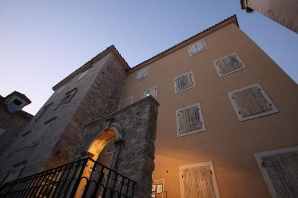 Picture of Budva Old Town (Montenegro): Early evening at one of the classical buildings of Budva