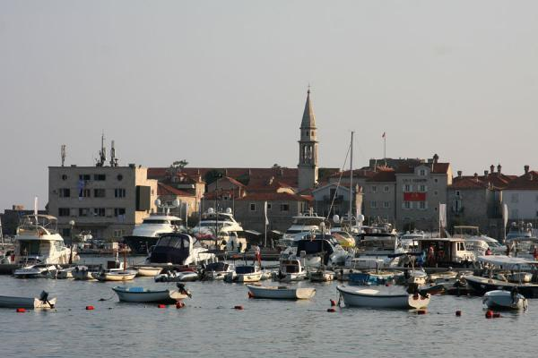 Picture of Budva Old Town (Montenegro): Harbour of Budva with boats and yachts