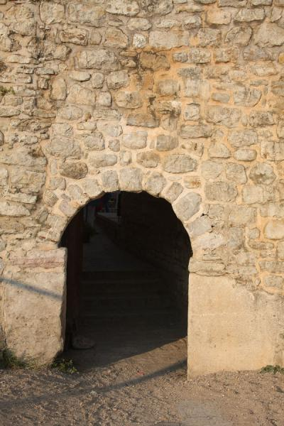 Picture of Budva Old Town (Montenegro): Entrance to the old city of Budva through its massive city walls