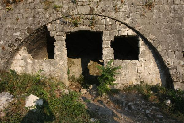 Foto van Detail of the fortress of KotorKotor - Montenegro