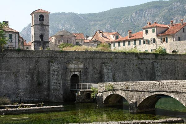 North Gate, or River Gate, with the Skurda river | Kotor Old Town | Montenegro