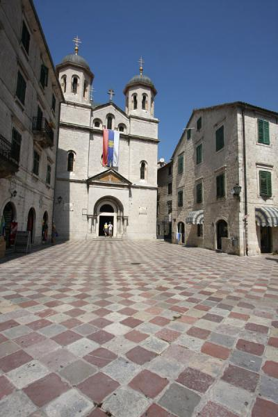 Foto van St Luke square with church of St NicholasKotor - Montenegro