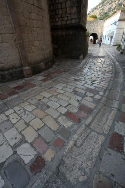 Foto van Cobble stone streets everywhere in KotorKotor - Montenegro