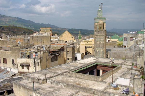 View from a roof with the medersa Bou Inania's minaret | Old Fs | Morocco