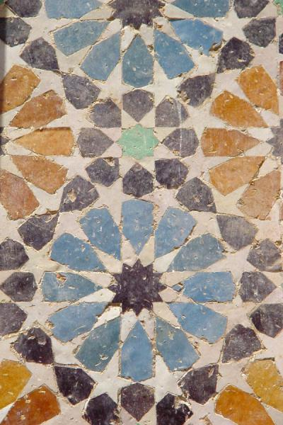 Foto de Detail of zellij tile art workFès - Marruecos