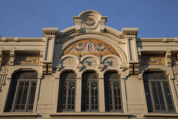 Facade of a remarkable building in the old part of Maputo | Colonial Maputo | Mozambique