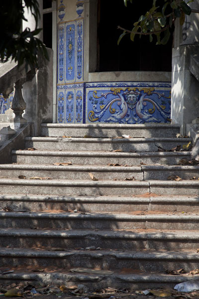 Stairs leading up to beautiful but neglected Vila Algarve | Colonial Maputo | Mozambique